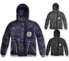 Boys Coat Kids Winter Jacket Grey Navy Black New Age 3 4 5 6 7 8 9 10 11 Years