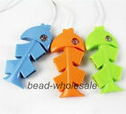 High-Speed USB 2.0 4 Port 1PC Random Color Cute Fishbone USB HUB PC Adapter New
