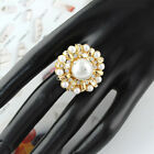 1 pc Golden color imitation peal beads fashion jewelry alloy finger rings RN-457
