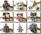 925 Sterling Silver Xmas Christmas Gift Bells Bead Fit Charm European Bracelet