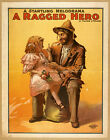 Photo Print Vintage Poster: Stage Theatre Flyer Melodrama A Ragged Hero 01