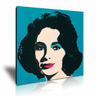 Elizabeth Taylor Andy Warhol Icon Modern Wall Art Canvas Print Framed Many Sizes