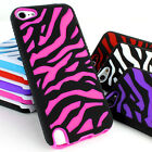 For Apple iPod Touch 5 5G 5th Colorful Zebra Heavy Duty Hybrid Hard Case Cover