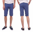 SALE ITEM WAS £40.00 Bellfield 11183C Cobalt Mens Drop Crotch Denim Chino Shorts