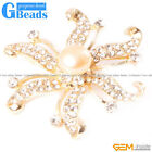 Nice Freshwater 9-10mm Pearl With Yellow Gold Plated Starfish Shape Brooch 48mm