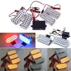 12V 88/44 LEDs Strobe Flashing LED Grill Light Emergency Recovery Warning Truck