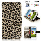 Fashion Leopard Wallet Flip Case Card Stand Cover For Samsung Galaxy S4 i9500