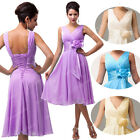 2014 NEW COMING  Deep V-Neck Chiffon Short Evening Prom Party Homecoming Dresses