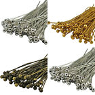100 Bronze, Gold & SILVER PLATED Metal BALL HEAD PINS 30mm 40mm 50mm - Ballpins