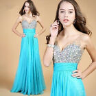 Hot Formal Evening Prom dress Ball Gown Bridesmaid Wedding Gown 4 6 8 10 12 14