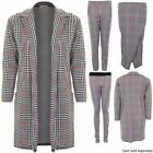 Ladies Dogtooth Checked Smart Women's Blazer Pencil Wrap Skirt Trousers CoOrd
