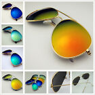 Retro Aviator UV400 golf Motorcycles Glasses Men Beach mirror sunglasses In BOX