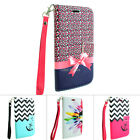 For LG Optimus L90 Design Hybrid PU Leather Wallet Flip Pouch Case Cover Stand