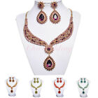 New Fashion Colorful Party/Bridal Jewelry Crystal Necklace Earrings Set For Prom