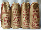Rustic Jute Hessian Christmas Bottle Gift Bag Novelty Do not open until the 25th