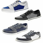 Mens Trainers Crosshatch New Designer Lace Up Quilted Plimsolls Pumps Sneakers