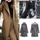 2014 New Womens Ladies Woolen Long Coat Jacket Trench Parka Windbreaker Outwear