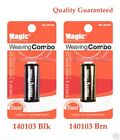Magic Weaving Combo Thread & 3 Needles Set 140103 2 Color Black & Brown The Best
