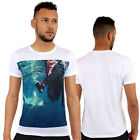 Shark Surfing 3d Print Fitted T-Shirt Urban life By Monkey Business