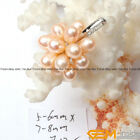 Fashion 5-6mm Freshwater Pearl Beads White Gold Plated Body Jewelry Pendant