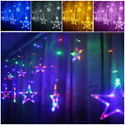 Memory Function 20Ft Curtain Christmas Garden Tree Five-pointed Star Fairy Light