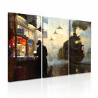 ART Graphic 7 3A Canvas Framed Printed Wall Art ~ More Size