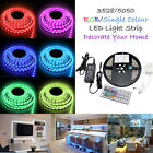 3528/5050 Flexible 300 SMD Light Strip LED Tape Car Outdoor Waterproof 12V 5M UK