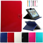 Universal Concise PU Leather Folio Case Cover Fit For 9 10 10.1 Inch Tablets PC