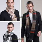 Handsome Men Soft Plaid Scarf Long Casual Autumn Winter Scarf Tassels Shawl Gift