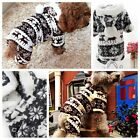 2 colors pet puppy winter clothes The deer pattern pullover coat dog hoodies 34