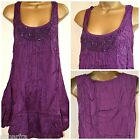 NEW EVANS PLUS SIZE TUNIC MINI DRESS SHIFT TOP PURPLE BEADED PARTY size 14 - 32