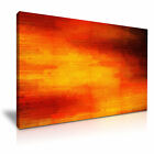 MODERN ABSTRACT ART Red & Yellow Illusions Canvas Framed Print ~ More Size