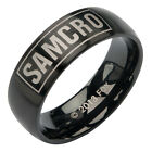 Sons of Anarchy SAMCRO Stainless Steel IP Black Ring - sizes 6, 8-12