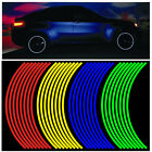 Color Wheel Sticker Reflective Rim Stripe Tape Reflective Sticker Bike Motor Car