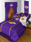 Los Angeles Lakers Bed in a Bag Curtains Valance Twin Full Queen King Comforter