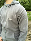 Mens Trespass Gunbarrel Microfleece Large L Grey Smoke Full Zip Hooded Jacket