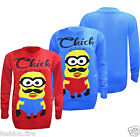 MENS WOMENS LADIES GIRLS MINION NOVELTY 3D KNITTED CHRISTMAS JUMPER TOP