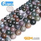 Natural Indian Agate Gemstone Round Beads For Jewelry Making Free Shipping 15""