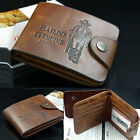 New Luxury High Quality Mens Brown Leather Bifold Wallet Credit Card Holder Gift