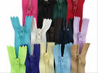 CLOSED END - CUSHION/DRESS/TROUSER/SKIRT ZIPS - SEWING - CRAFT - MANY COLOURS