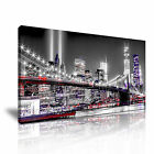 New York CITYSCAPE USA 10 1-21 Canvas Framed Printed Wall Art ~ More Size