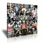 BANKSY Collage 1 Canvas 1S Framed Printed Wall Art ~ More Size