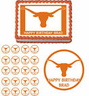 Texas Longhorns Party Edible Cake Topper Cupcake Decoration Birthday