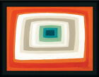 Retro #1 David Bromstad Teal Orange Abstract Framed Art Print Wall Décor Picture