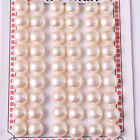 Button Shape Half Drilling  Pearl Beads 27 Pairs for Earrling and Ring 10-10.5mm