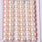 10mm Button Half Drilling Genuine Pearl Beads For Earring 27 Pairs Free Shipping