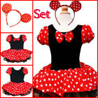 Minnie Mouse Cosplay School Party Costume Girls Dresses SIZE 1-2-3-4-5-6-7-8-10T