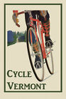 Riding Bicycle Bike Cycles Vermont Sport Travel Vintage Poster Repro FREE S/H