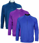 Adidas Golf Men's TaylorMade 3-Stripes Piped 1/4 Zip Up Sweater Shirt, 2 Colors