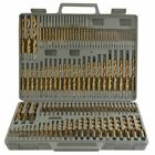 115pc Titanium Drill Bit Set w Index Case Number Letter Fractional $0 SHIPPING!